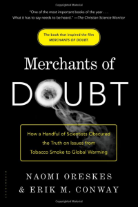 screen shot of cover of Merchants of Doubt